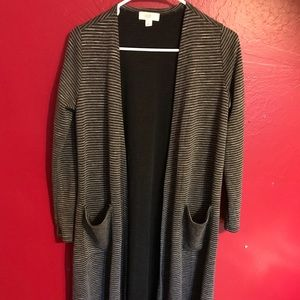 Lularoe Sarah Duster EUC Black/white striped